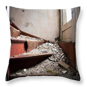 Abandoned Stairs Throw Pillow