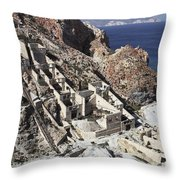 Abandoned Sulfur Processing Facility Throw Pillow