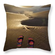 Abandoned Thongs Throw Pillow by Avalon Fine Art Photography