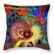 Abandoning Art Throw Pillow