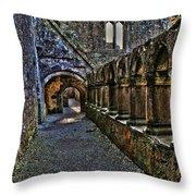 Abbey Corridor Throw Pillow