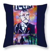 Abbott Kinney Throw Pillow by Tony B Conscious