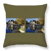 Abbotts Pond - Gently Cross Your Eyes And Focus On The Middle Image Throw Pillow