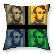 Abe In Quad Colors Throw Pillow