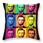 Abe Pop Throw Pillow
