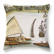 Abel Tasman Expedition 1643 Throw Pillow