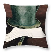 Aberaham Lincolns Hat, Cane And Gloves Throw Pillow