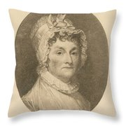 Abigail Adams Throw Pillow