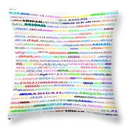 Abigail Text Design II Throw Pillow