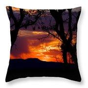 Abiquiu Sunset II Throw Pillow