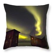 Abisko, Sweden. The Abisko Ark Hotel Throw Pillow