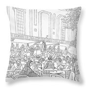 Abolition Cartoon, 1859 Throw Pillow