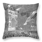 Abolition Of Slavery, 1864 Throw Pillow