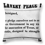 Abolitionist Peace Pledge Throw Pillow