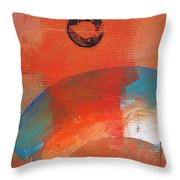 Aboriginal Ocean Throw Pillow