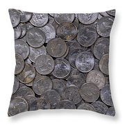 About 75 Cents  Throw Pillow