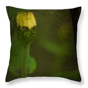 About To Bloom Throw Pillow
