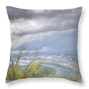Above Chattanooga Throw Pillow