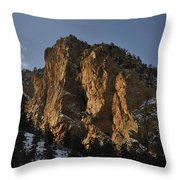Above Red River I Throw Pillow