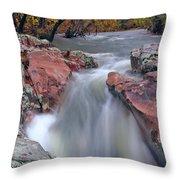 Above The Castor River Shut Ins II Throw Pillow