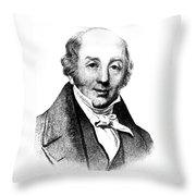 Abraham Colles, Irish Surgeon & Throw Pillow