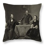 Abraham Lincoln And Family Throw Pillow