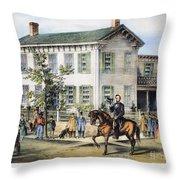 Abraham Lincolns Home Throw Pillow