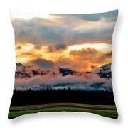 Absaroka Sunset Throw Pillow