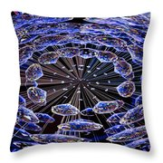 Abstract - Blue Diamonds Throw Pillow