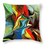 Abstract 021712 Throw Pillow