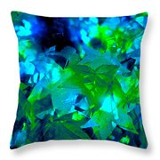 Abstract 100 Throw Pillow