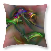 Abstract 101211b Throw Pillow