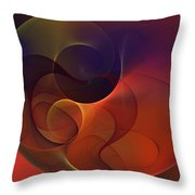 Abstract 102611c Throw Pillow