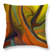 Abstract 110311 Throw Pillow