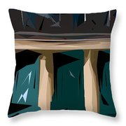 Abstract 21 Throw Pillow