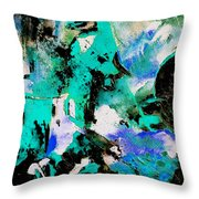 Abstract 690506 Throw Pillow
