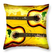 Abstract Acoustic Throw Pillow