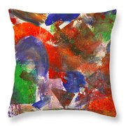 Abstract - Acrylic - Synthesis Throw Pillow