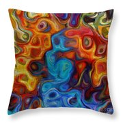 Abstract - And The Night Crept In Throw Pillow