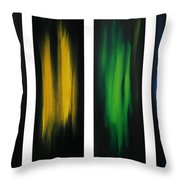 Abstract Art Colorful Original Painting Winter Passion By Madart Throw Pillow