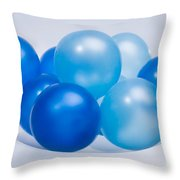 Abstract Balloon Throw Pillow