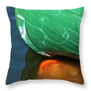 Abstract Boat Stern Throw Pillow