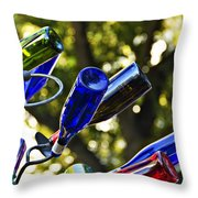 Abstract Bottle Structure Throw Pillow