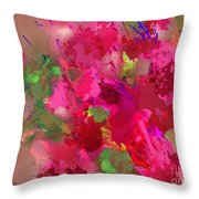 Abstract Bougainvillea Painting Floral Wall Art Throw Pillow