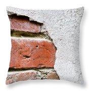 Abstract Brick Wall II Throw Pillow