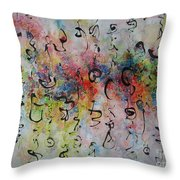 Abstract Calligraphy115 Throw Pillow