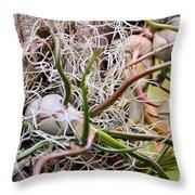 Abstract Caput Medusae Throw Pillow