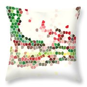 Abstract Celebration Throw Pillow
