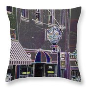 Abstract Coffee House Throw Pillow