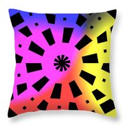 Abstract Color Forms Throw Pillow